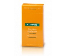 Klorane cold wax strips for face and sensitive areas. 6 bands
