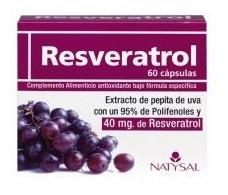 Natysal Resveratrol 60 capsules.