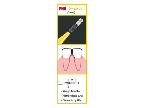 Fine PHB interdental brushes 6 pcs.