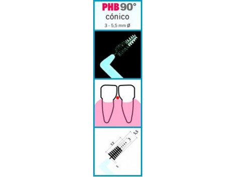 PHB 90 interdental brushes Conico 6 +.