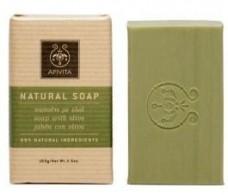 Apivita Natural Soap Olive Oil Geranium honey and 100 grams.